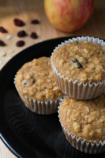 healthy applesauce oatmeal muffins